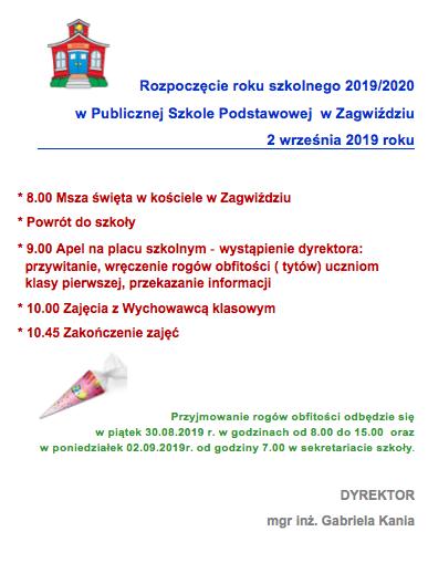 Plakat_rozpoczęcie roku szkolnego 2019/2020.png